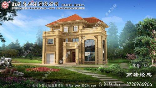 嘉定区欧式三层自建别墅设计
