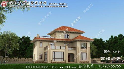 河间市三层别墅设计图