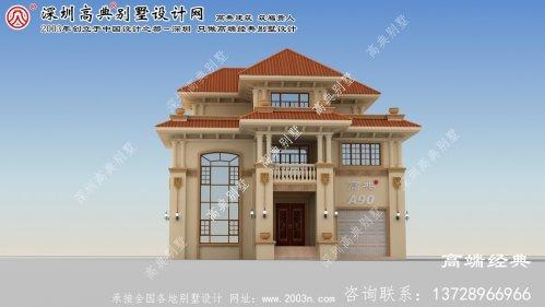 朝阳市3层别墅设计图带车库