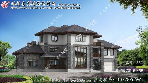 龙江县二层半小别墅效果图
