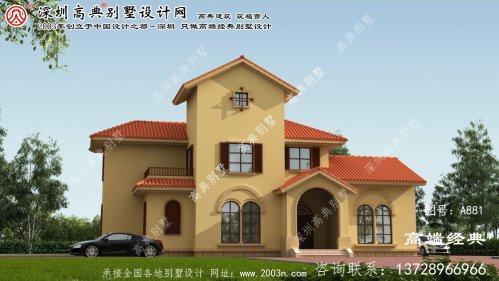 镇平县二层半别墅设计