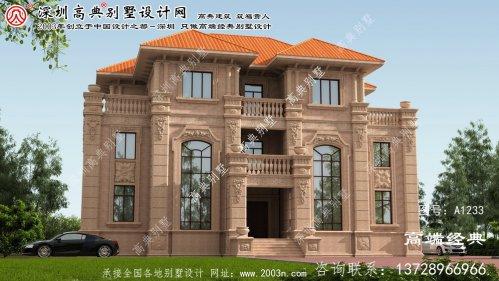 益阳市欧式石材三层别墅户型图