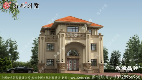 别墅设计效果图大全完美的外观造型
