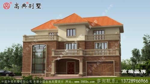 三层半乡村别墅设计