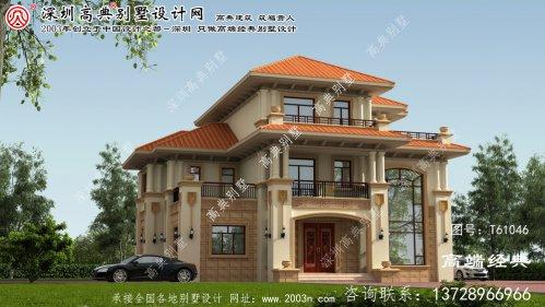 磴口县别墅设计以浪漫为主题。欧美风