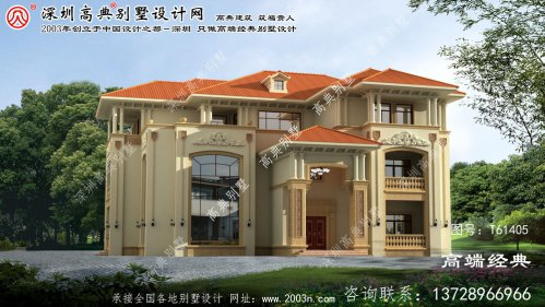 辽宁省欧式三层复式别墅设计图及效果