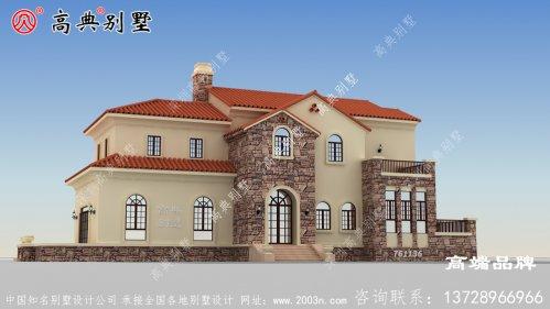房屋设计图农村两层整体设计朴实大气,精致实用。