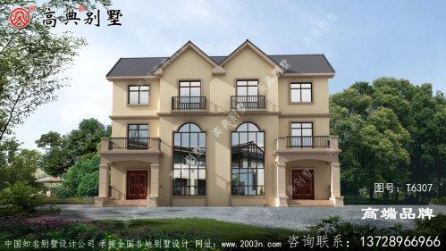 农村双拼别墅房子设计图