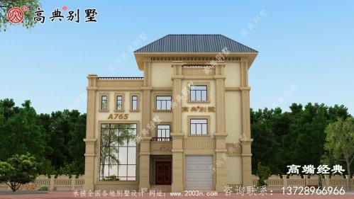 东乡县新款四层别墅设计图,符合生活