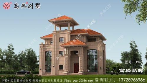 农村房屋三层设计颜值绝对不会平淡无