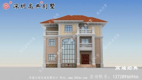 独栋三层别墅这样建,绝对没有人敢说你土,奢华大气,图纸快