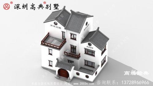 农村大户型中式四合院别墅设计图含外