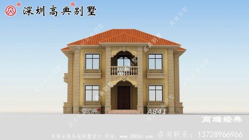 洋气二层农村别墅设计