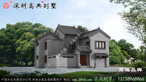 现代中式风二层别墅设计图,7室4厅4卫