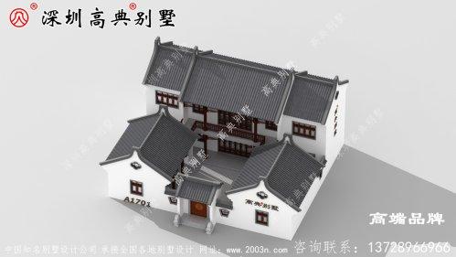 二层农村自建房设计图,造型虽不显眼