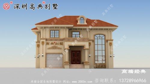 二层住宅平面图,户型方正,占地面积