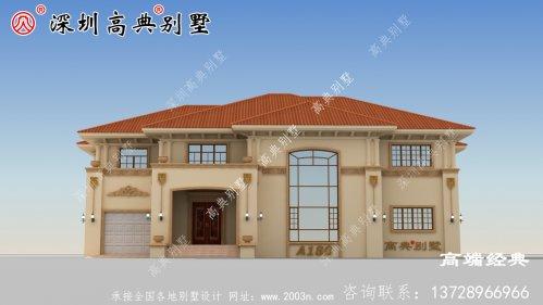 二层农村自建房实景图平面图