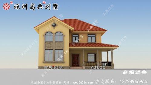 乡村一楼半的房子设计图,既省钱又舒适