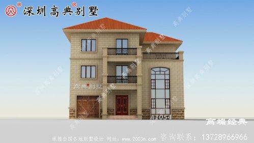 乡村三层别墅带阳台露台设计,给您不同