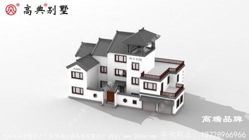 中式庭院符合80后 、90后的建房审美标准