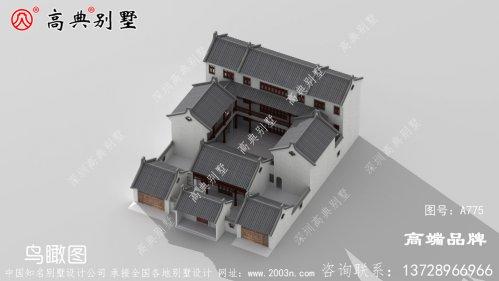 中式三层庭院别墅,让你的家与众不同