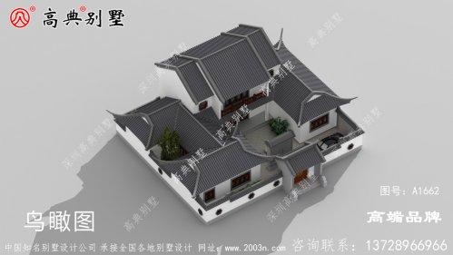 家庭人口多建个中式庭院就很方便了,空