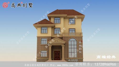 欧式四层别墅,建一栋,引领自建房的