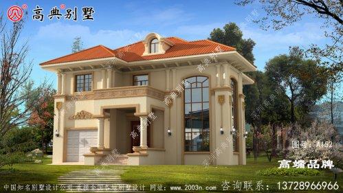 农村自建欧式别墅设计图,外观典雅,