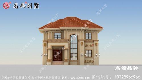 复式设计的两层欧式风格别墅,温暖却